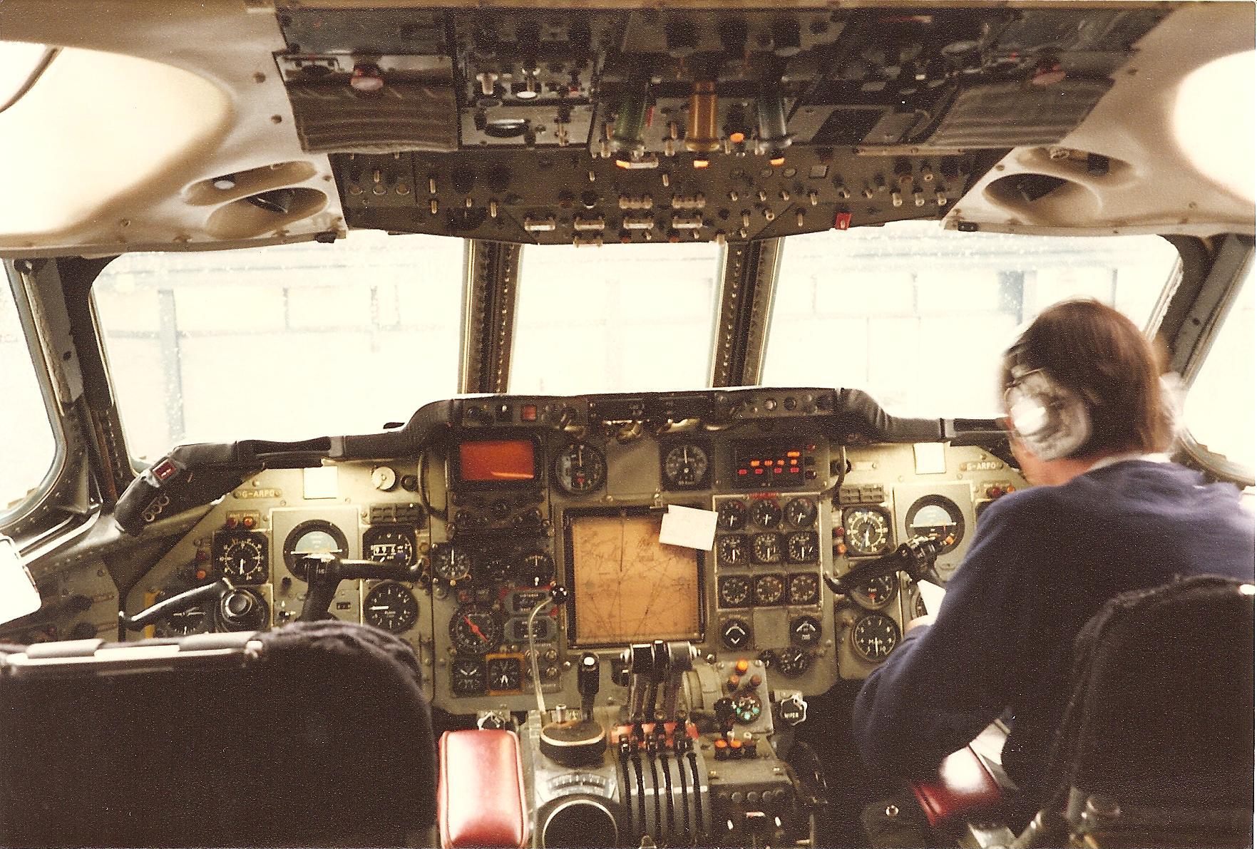 Cockpit after final flight