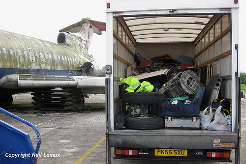 Van with parts
