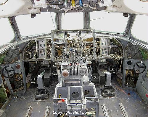 Empty cockpit
