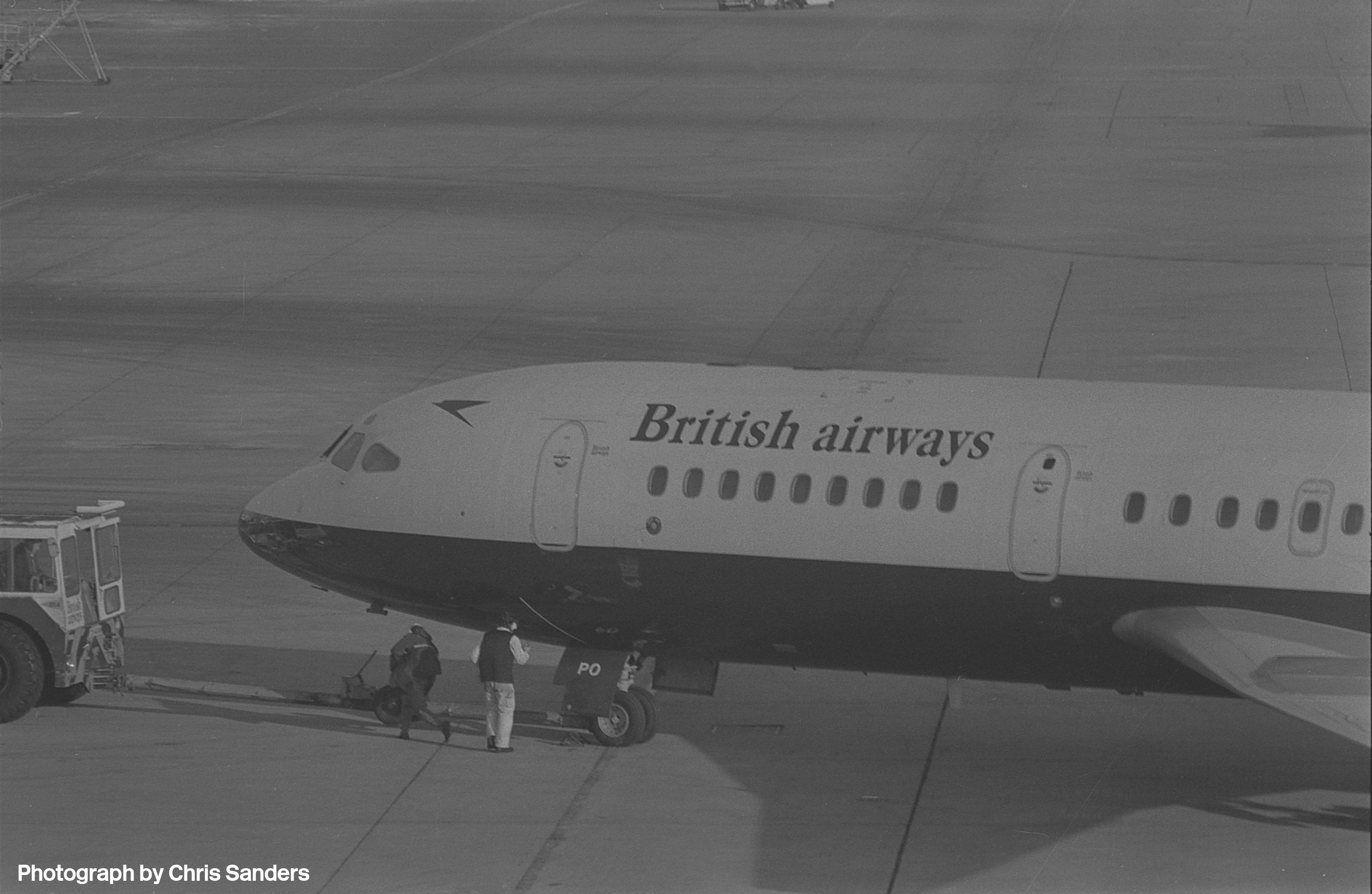G-ARPO pushing back at Heathrow Terminal 1