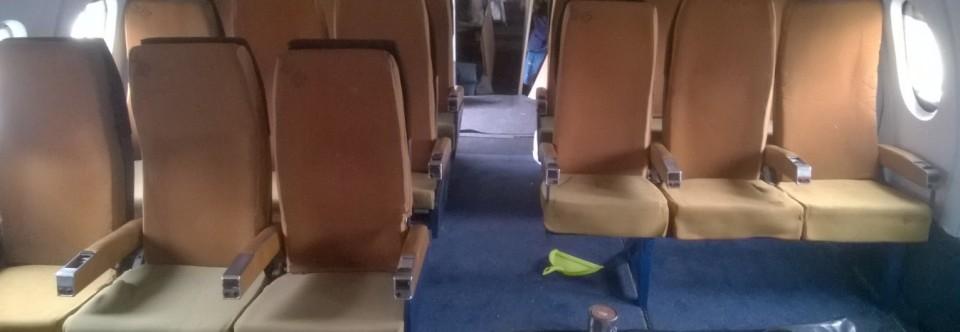 Rear cabin seats and display progress