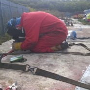 More stabiliser and rudder welding work